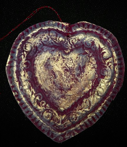 Paper Casting: Heart Ornament
