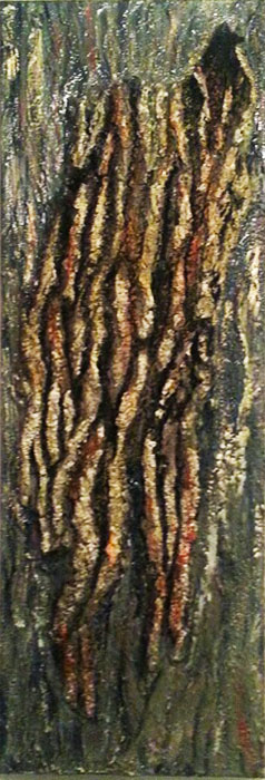 Debris-Mixed-media-oak-bark-Bees-wax-on-canvas