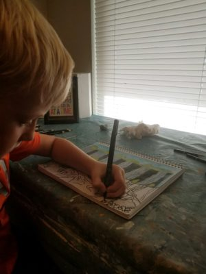student drawing denham springs art lessons