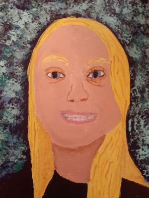 12-year-old-students self-portrait